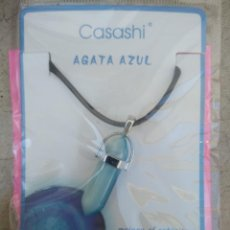 Joyeria: PRECIOSO COLGANTE PIEDRA , AGATA AZUL. Lote 207182835