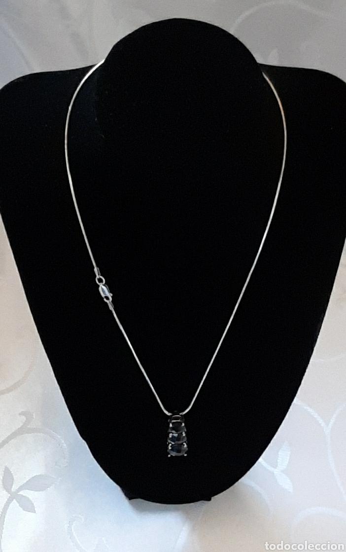 Joyeria: Cadena colla de topo y colgante turmalina ambos plata de ley 925 tggc ITALY - Foto 2 - 207625825