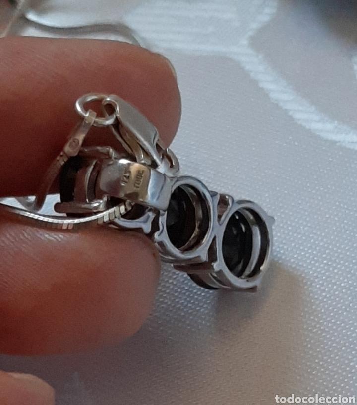 Joyeria: Cadena colla de topo y colgante turmalina ambos plata de ley 925 tggc ITALY - Foto 8 - 207625825