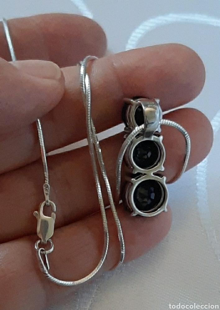 Joyeria: Cadena colla de topo y colgante turmalina ambos plata de ley 925 tggc ITALY - Foto 11 - 207625825