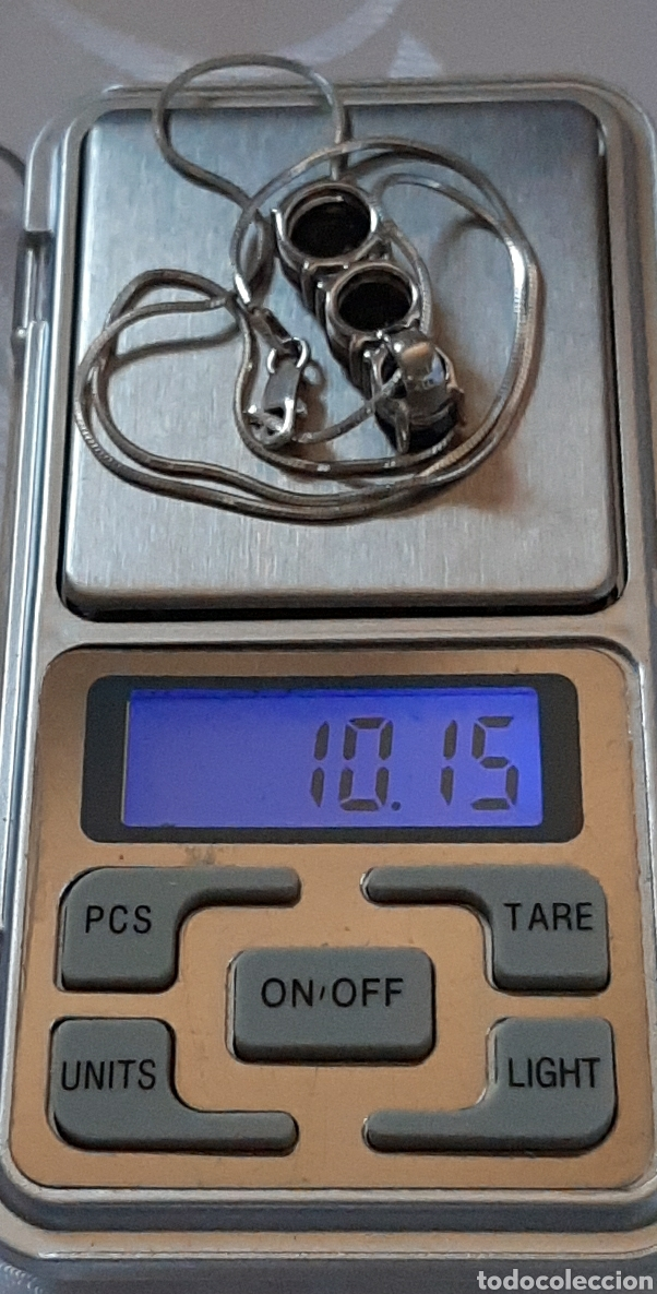 Joyeria: Cadena colla de topo y colgante turmalina ambos plata de ley 925 tggc ITALY - Foto 12 - 207625825