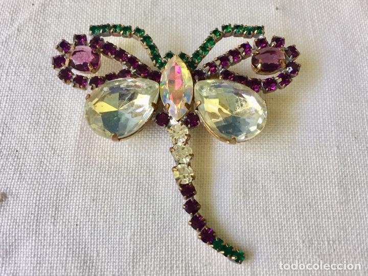 Joyeria: Broche vintage de cristales libelula - Foto 2 - 208895048