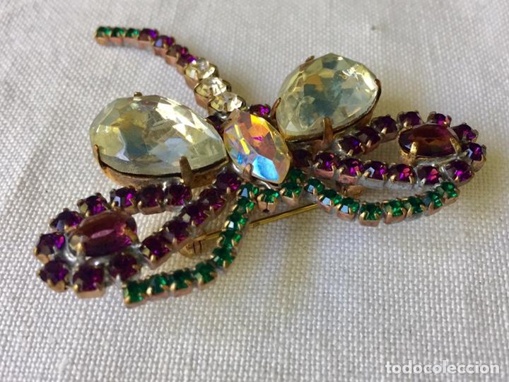 Joyeria: Broche vintage de cristales libelula - Foto 5 - 208895048