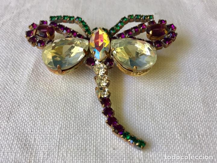 Joyeria: Broche vintage de cristales libelula - Foto 6 - 208895048