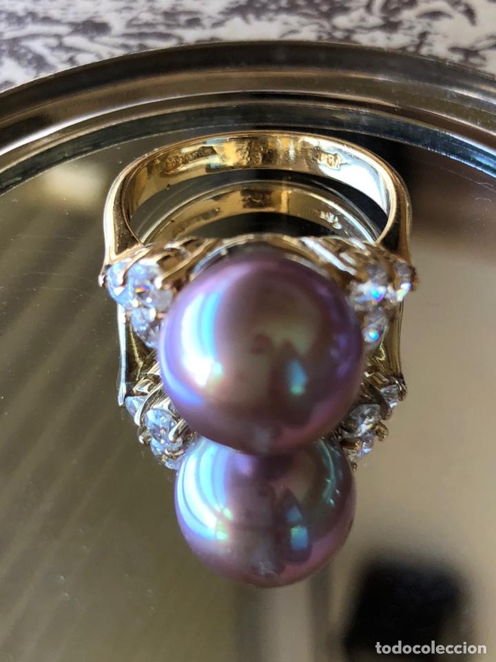 Joyeria: anillo de plata de ley 925 acabado en oro - Foto 5 - 192553395