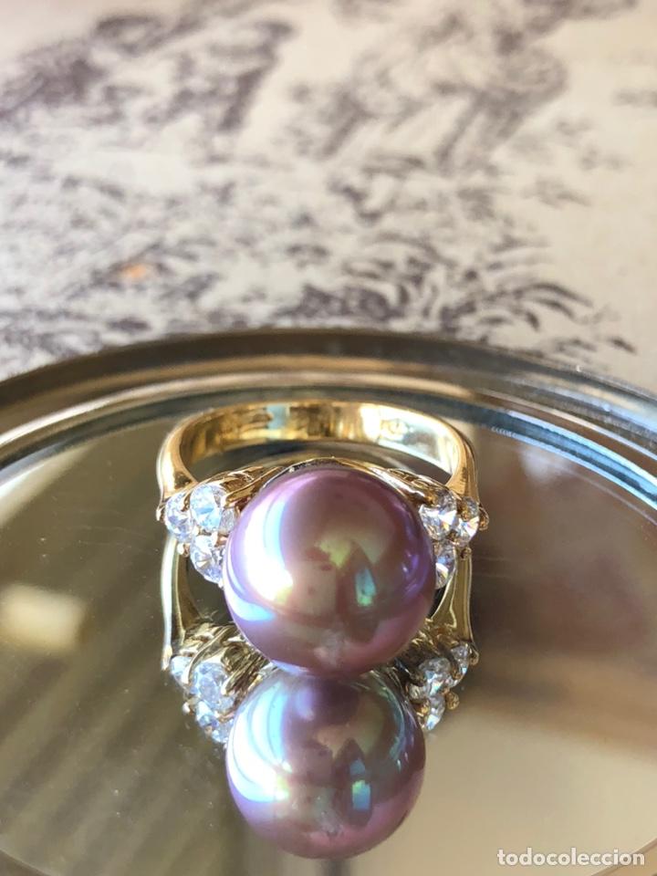 Joyeria: anillo de plata de ley 925 acabado en oro - Foto 2 - 192553395
