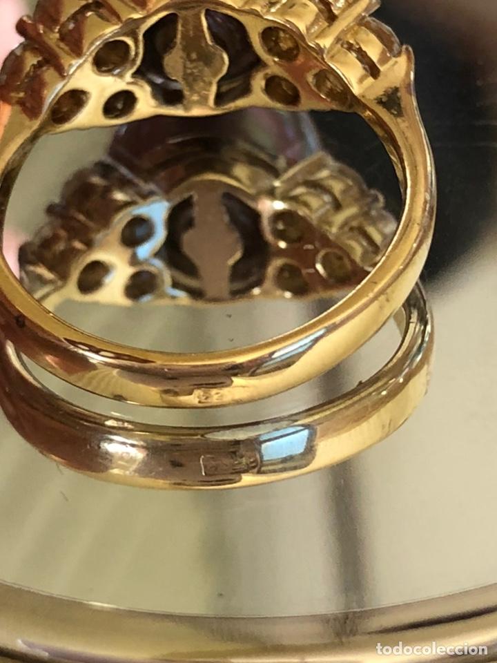 Joyeria: anillo de plata de ley 925 acabado en oro - Foto 11 - 192553395