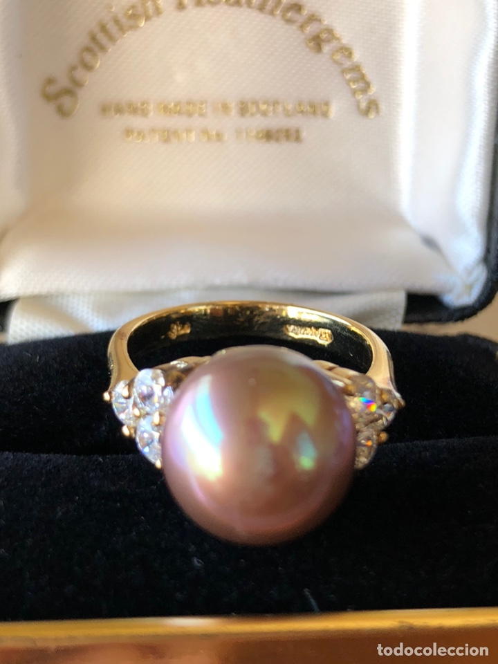 Joyeria: anillo de plata de ley 925 acabado en oro - Foto 8 - 192553395
