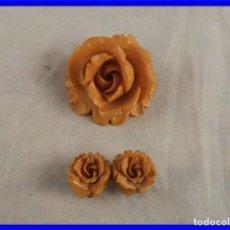 Joyeria: BROCHE Y COLGANTE MUY ORIGINALES CON FORMA DE ROSAS. Lote 208945055