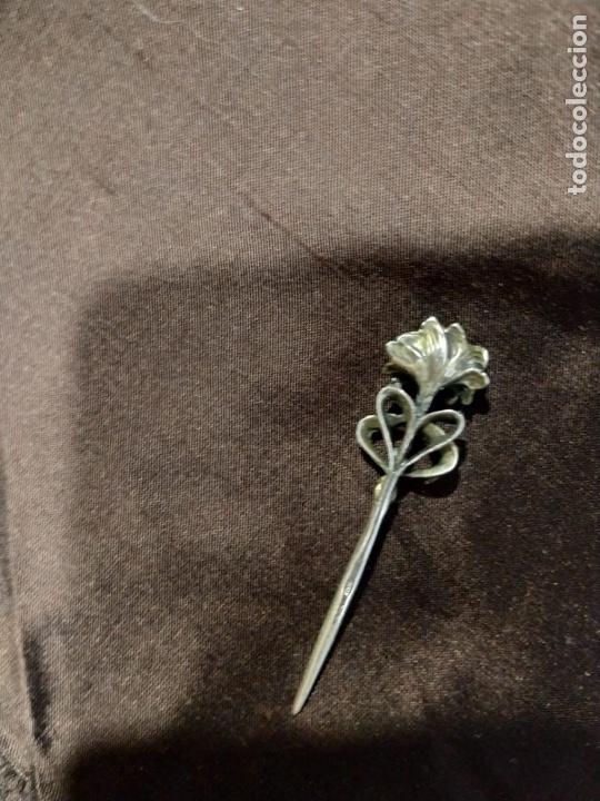 Joyeria: Arfiler o broche de pelo Victoriano plata de ley - Foto 2 - 210018481