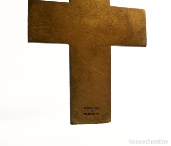 Joyeria: Masriera y Carreras- Colgante cruz / crucifijo de plata, esmalte y marfil - Art Decó Ca.1930-40 - Foto 4 - 210197943