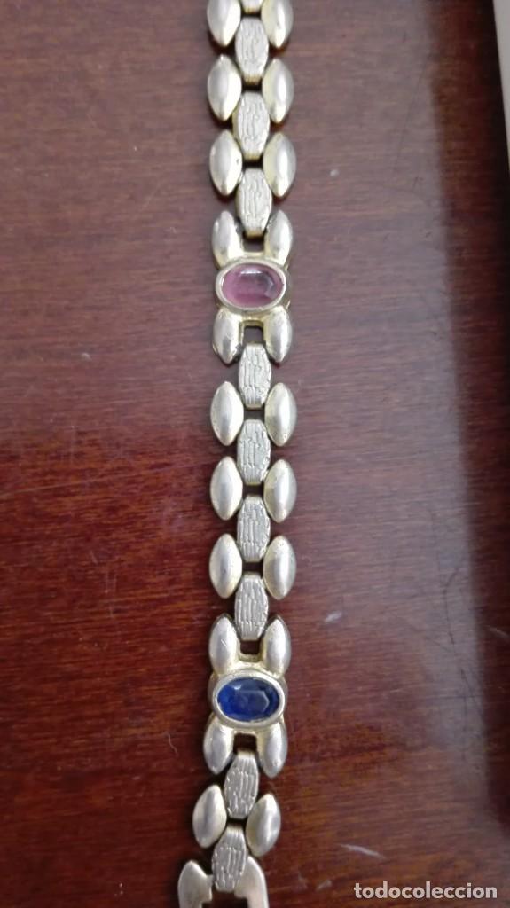 Joyeria: Pulsera de oro de 24 kts laminado con piedras para restaurar - Foto 3 - 210264160
