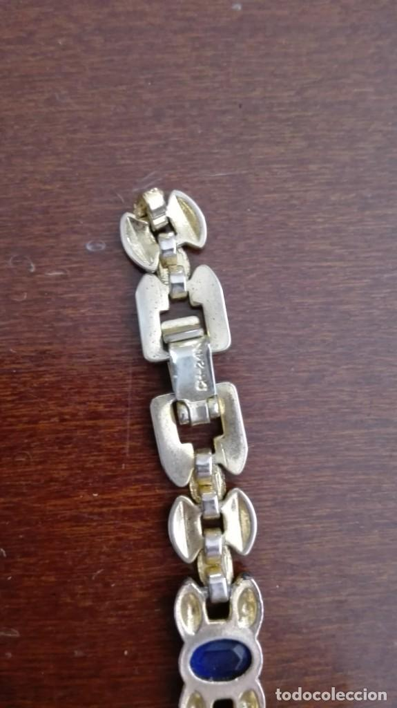 Joyeria: Pulsera de oro de 24 kts laminado con piedras para restaurar - Foto 4 - 210264160
