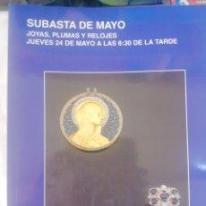 Joyeria: SUBASTAS SEGRE, SUBASTAS DE MAYO, 2012. Lote 210385126