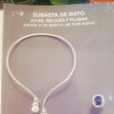 Joyeria: SUBASTAS SEGRE, SUBATAS DE MAYO, 2015. Lote 210385217