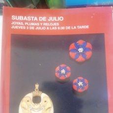 Joyeria: SUBASTAS SEGRE, SUBASTAS DE JULIO, 2014. Lote 210385290