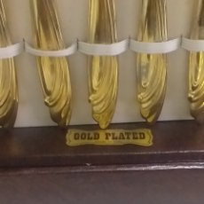 Joalheria: CAJA CON CUBIERTOS ORO GOLD PLATED 800. Lote 210651276