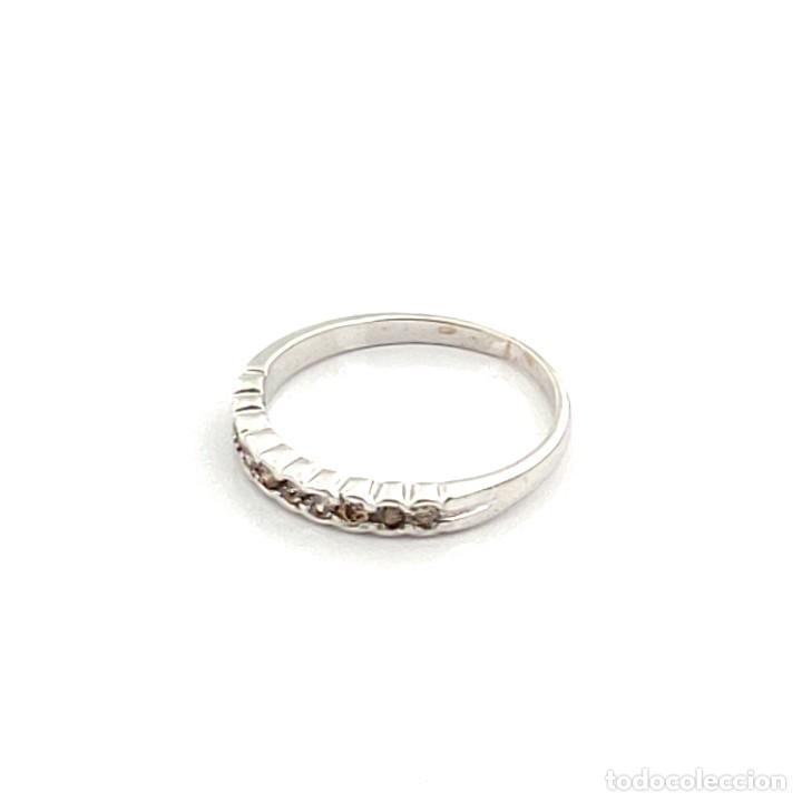 Joyeria: Anillo de Oro Blanco con Diamantes Fantasy Yellow de 0,30 ct - Foto 3 - 211272561