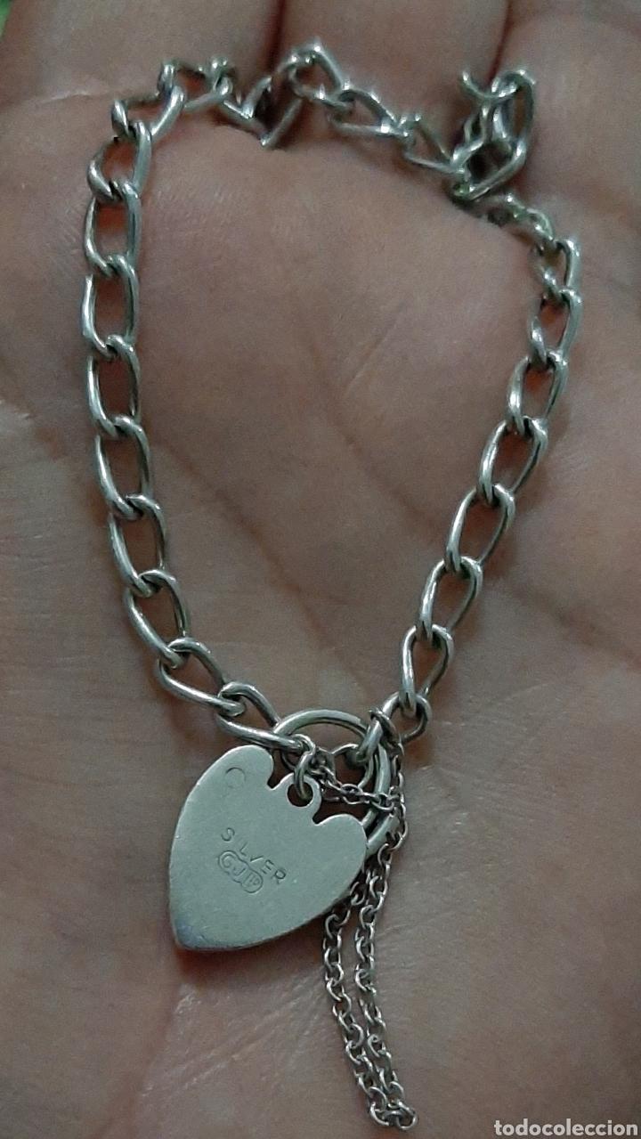 Joyeria: Pulsera de plata 835 y corazón de cierre de seguridad. 8.20 gramos. 4.0mm . 2.3mm 19 cm. - Foto 2 - 211437662