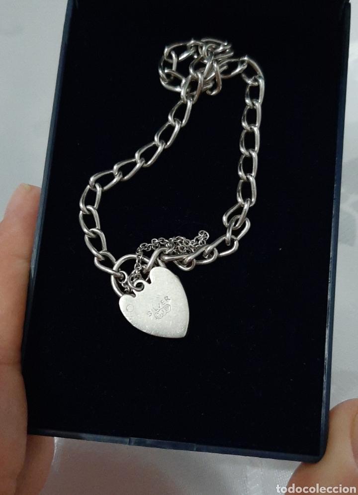 Joyeria: Pulsera de plata 835 y corazón de cierre de seguridad. 8.20 gramos. 4.0mm . 2.3mm 19 cm. - Foto 4 - 211437662