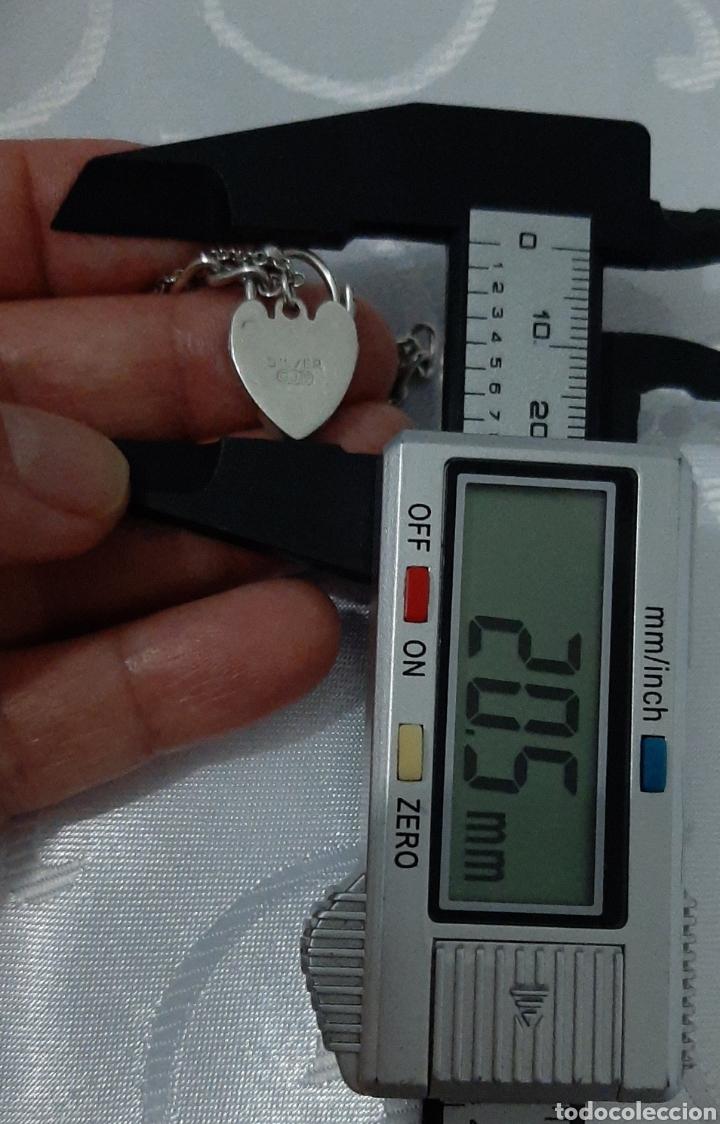 Joyeria: Pulsera de plata 835 y corazón de cierre de seguridad. 8.20 gramos. 4.0mm . 2.3mm 19 cm. - Foto 5 - 211437662