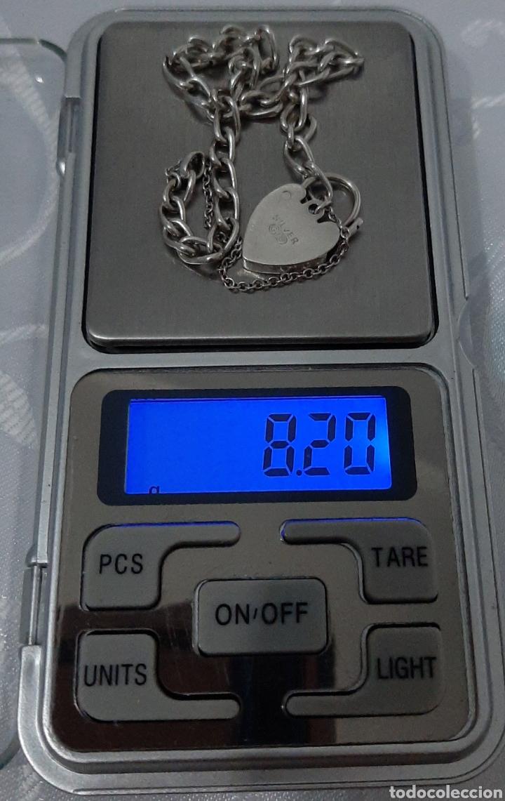 Joyeria: Pulsera de plata 835 y corazón de cierre de seguridad. 8.20 gramos. 4.0mm . 2.3mm 19 cm. - Foto 7 - 211437662