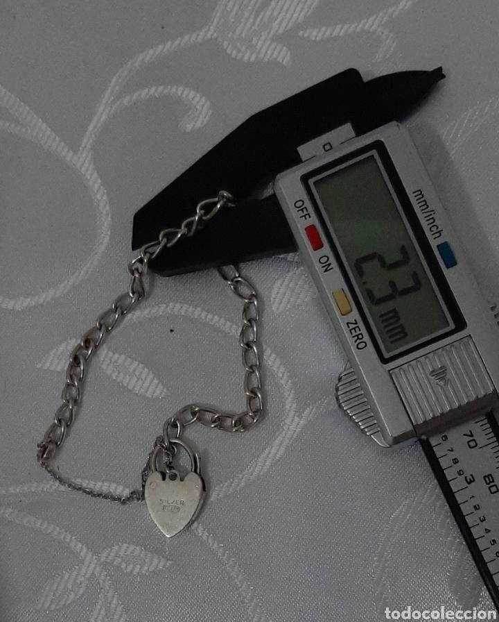 Joyeria: Pulsera de plata 835 y corazón de cierre de seguridad. 8.20 gramos. 4.0mm . 2.3mm 19 cm. - Foto 9 - 211437662