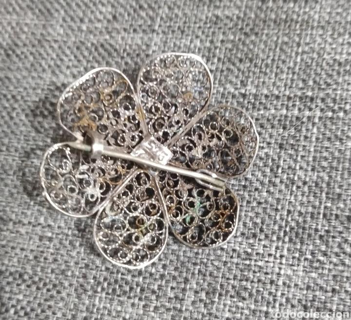 Joyeria: Precioso broche Filigrana de plata de ley - Foto 2 - 211879773