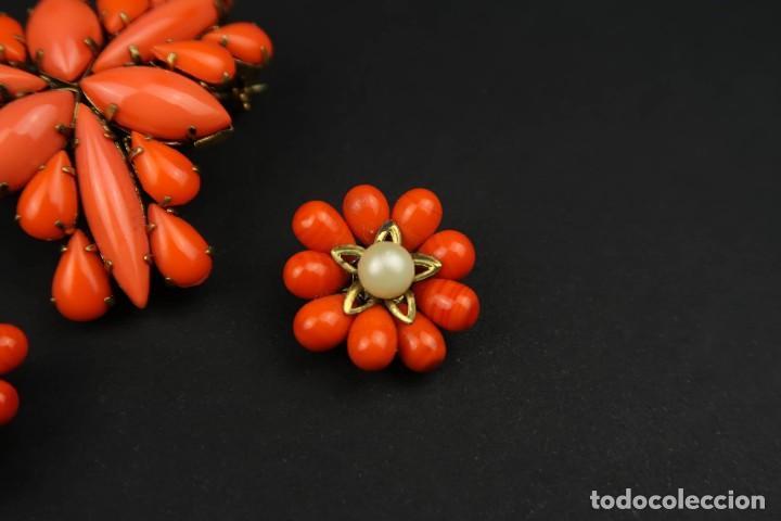 Joyeria: Antiguo Conjunto Broche y Pendientes de Clip - Foto 4 - 211926348