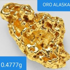 Joyeria: 0.4777GPEPITA ORO NATURAL ALASKA ENVIO GRATIS. Lote 212012405