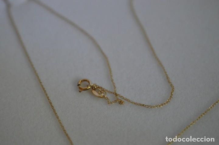Joyeria: Colgante de oro amarillo 14K con piedra tanzanita y diamantes. Certificado - joya collar - Foto 22 - 212098202