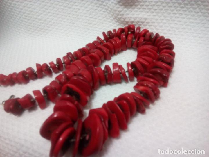Joyeria: Collar de coral auténtico. Estilo barroco.aprox 190 gr. Largo 70 cm. Sin estrenar. - Foto 3 - 212317013