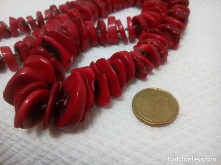 Joyeria: Collar de coral auténtico. Estilo barroco.aprox 190 gr. Largo 70 cm. Sin estrenar. - Foto 5 - 212317013
