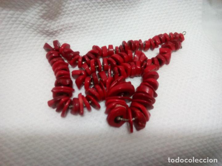 Joyeria: Collar de coral auténtico. Estilo barroco.aprox 190 gr. Largo 70 cm. Sin estrenar. - Foto 15 - 212317013