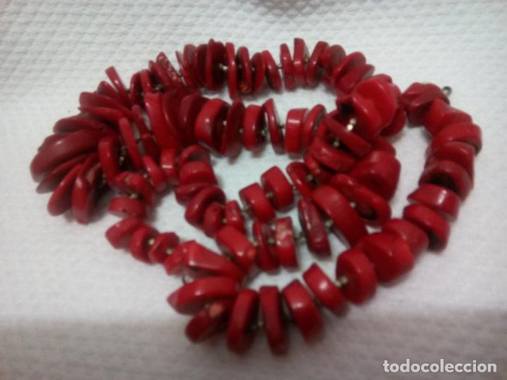 Joyeria: Collar de coral auténtico. Estilo barroco.aprox 190 gr. Largo 70 cm. Sin estrenar. - Foto 21 - 212317013