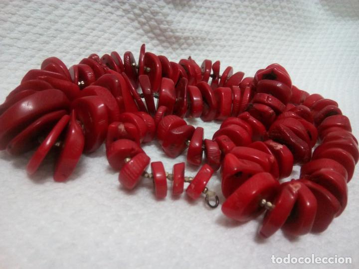 Joyeria: Collar de coral auténtico. Estilo barroco.aprox 190 gr. Largo 70 cm. Sin estrenar. - Foto 22 - 212317013
