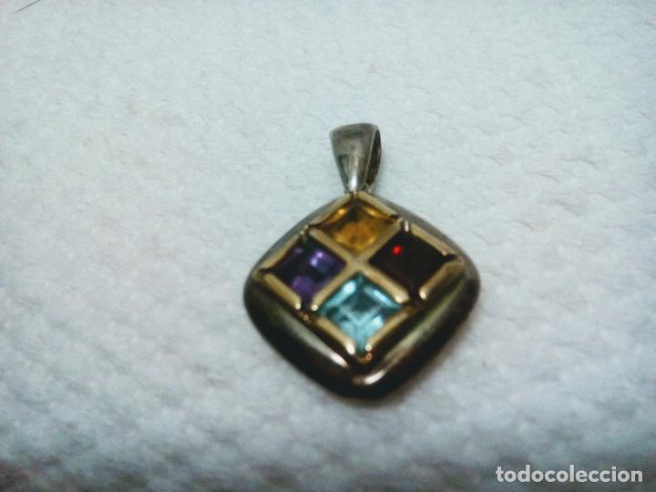Joyeria: Precioso colgante gemas: aguamarina ,zafiro ,rubí , topacio. Joyería CLiO BLUE París. Sin estrenar - Foto 2 - 212417478