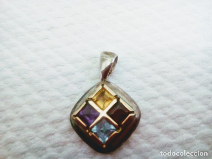 Joyeria: Precioso colgante gemas: aguamarina ,zafiro ,rubí , topacio. Joyería CLiO BLUE París. Sin estrenar - Foto 3 - 212417478