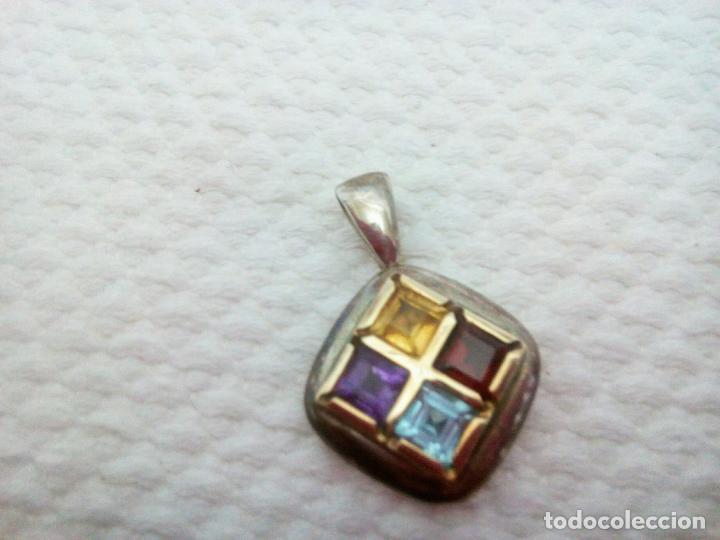 Joyeria: Precioso colgante gemas: aguamarina ,zafiro ,rubí , topacio. Joyería CLiO BLUE París. Sin estrenar - Foto 4 - 212417478