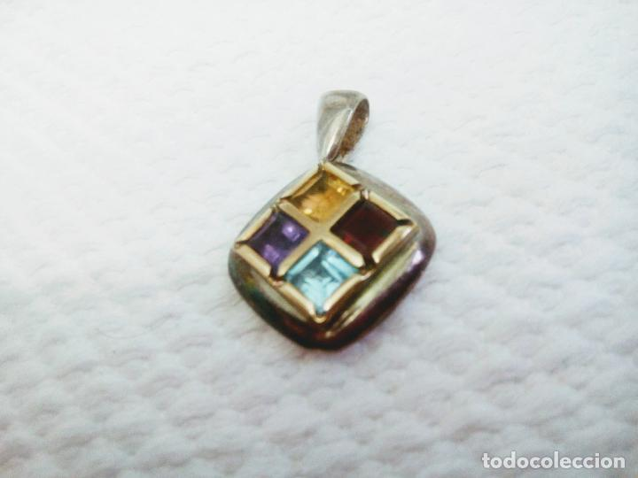 Joyeria: Precioso colgante gemas: aguamarina ,zafiro ,rubí , topacio. Joyería CLiO BLUE París. Sin estrenar - Foto 5 - 212417478