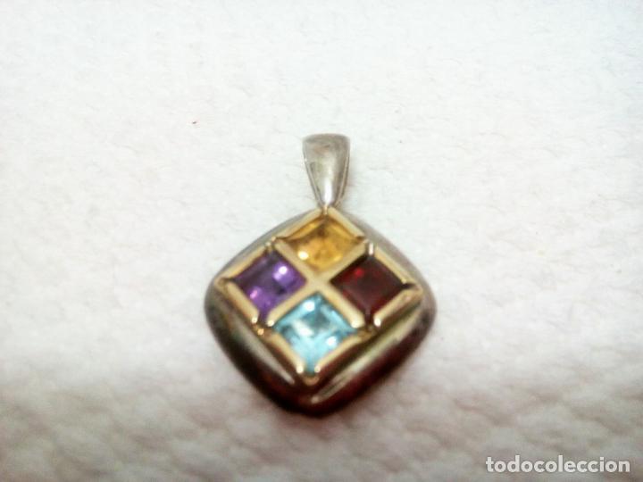 Joyeria: Precioso colgante gemas: aguamarina ,zafiro ,rubí , topacio. Joyería CLiO BLUE París. Sin estrenar - Foto 10 - 212417478