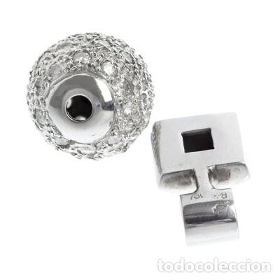 Joyeria: Lote de dos colgantes oro blanco 18kts y diamantes. - Foto 3 - 212470525