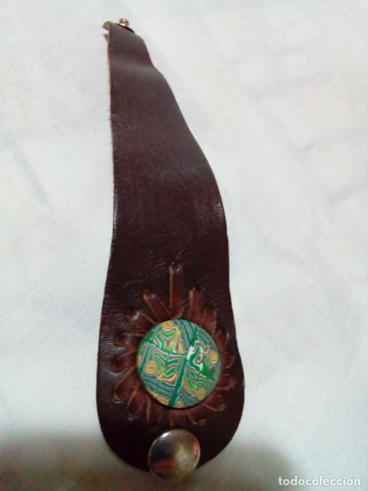 Joyeria: bonito brazalete de cuero - Foto 3 - 212907645