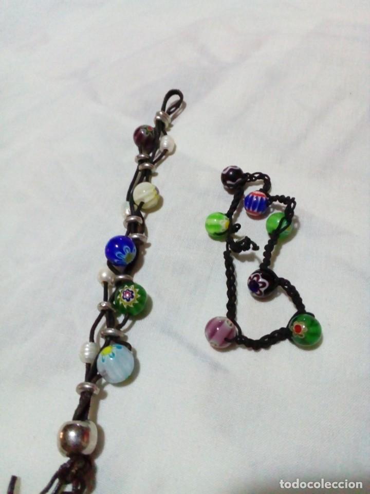 Joyeria: dos bonitas pulseras con bolitas de cristales - Foto 3 - 212908856