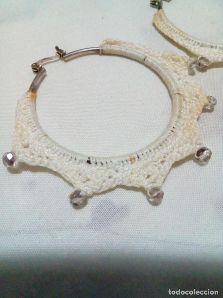 Joyeria: pendientes vintage hechos de ganchillos - Foto 3 - 212910863