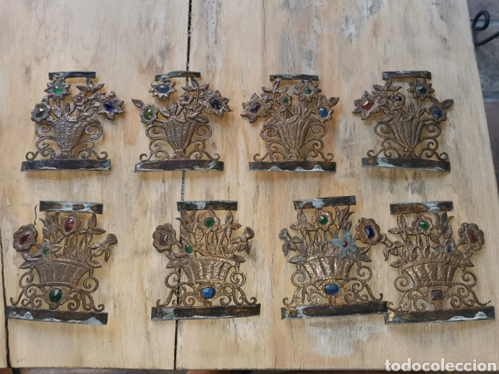 Joyeria: Floreros art deco 1920 de laton para soldar con plomo - Foto 2 - 213536415