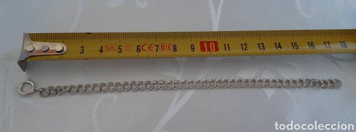 Joyeria: Pulsera de plata sellado SILVER doblé. 17 centímetros . 5.9 mm anchura. 1.6 mm grosor. 5.57 gr. - Foto 6 - 213799875