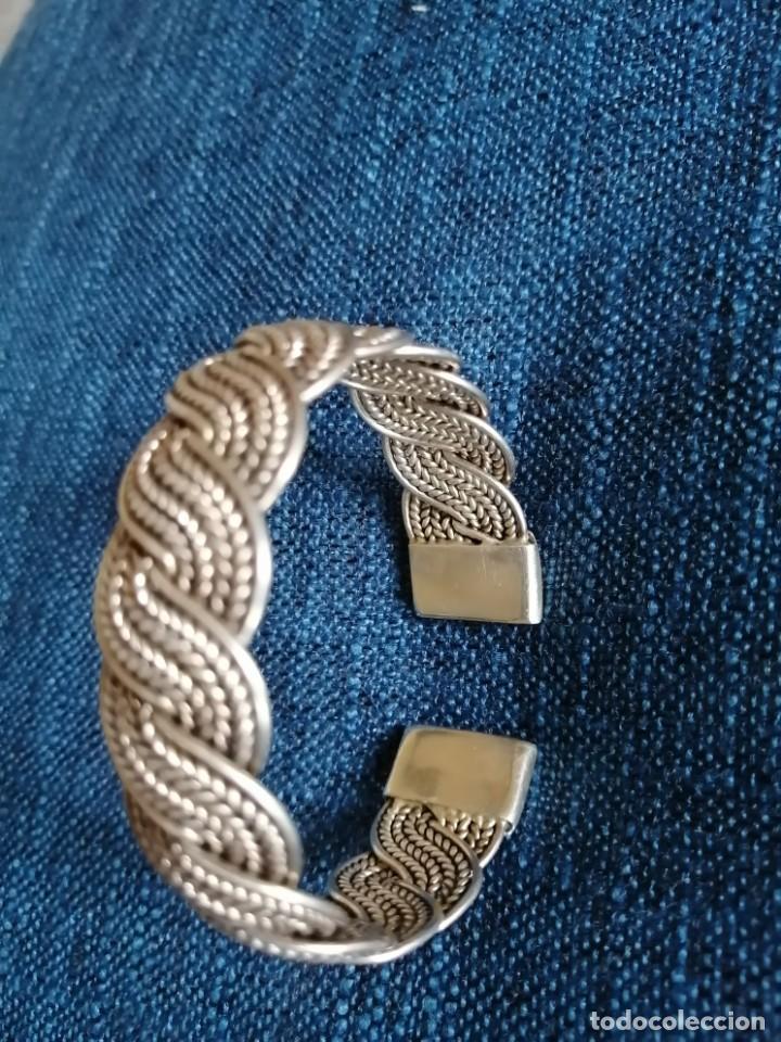 Joyeria: Pulsera esclava de plata trenzada 40 gr - Foto 5 - 214195152