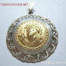 Joyeria: HERMOSO COLGANTE CON LA IMAGEN DE CRISTO - EN PLATA LEY 900 Y ORO 18K. Lote 214442180