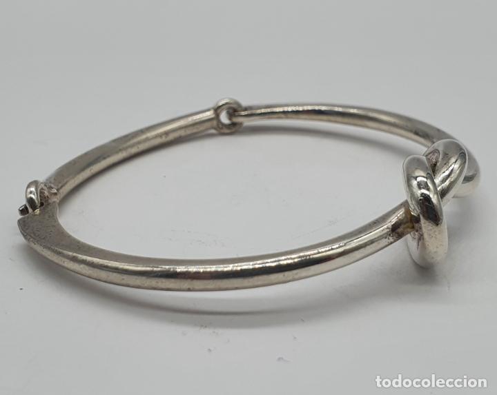 Joyeria: Antiguo brazalete art decó en plata de ley contrastada con nudo tipo ocho . - Foto 4 - 214506070